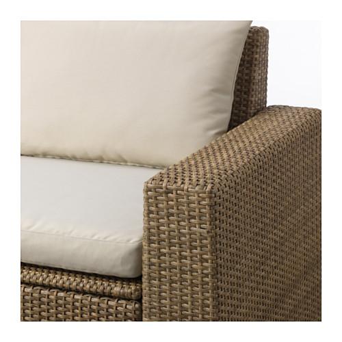 SOLLERÖN sofa sdt 3 ddkn mdlr, luar ruangan