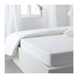 PUDERVIVA - Fitted sheet, white