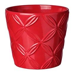 VINTERFEST - Plant pot, patterned red
