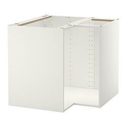 METOD - Rangka kabinet dasar sudut, putih