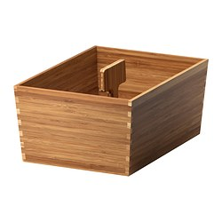VARIERA - Box with handle, bamboo