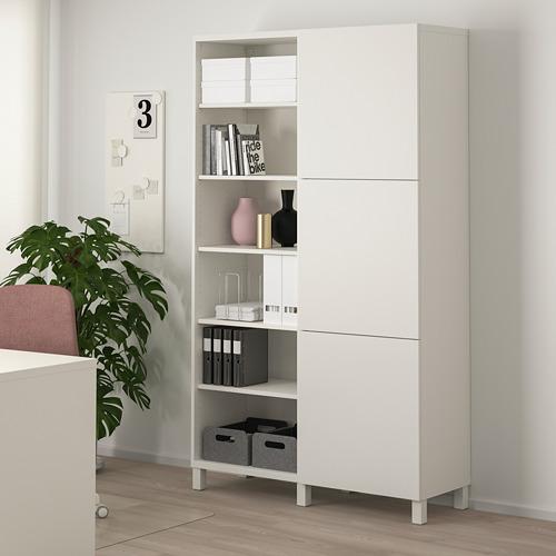 BESTÅ - kombinasi penyimpanan dengan pintu, putih/Lappviken/Stubbarp putih, 120x42x202 cm   IKEA Indonesia - PE744445_S4