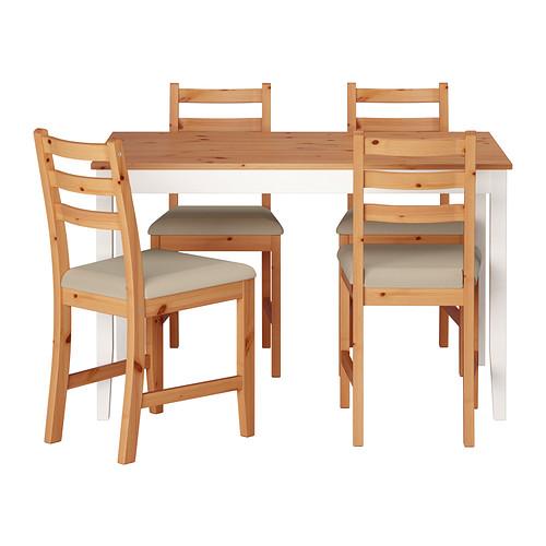 LERHAMN meja dan 4 kursi