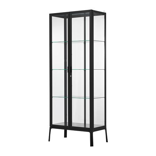MILSBO - kabinet pintu kaca, antrasit, 73x175 cm | IKEA Indonesia - PE704497_S4