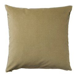 SANELA - Cushion cover, light olive-green