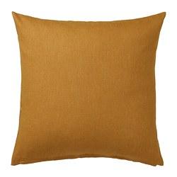 VIGDIS - Sarung bantal kursi, cokelat-emas tua