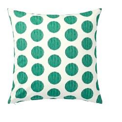ÅSATILDA - Cushion cover, natural dark green/dotted