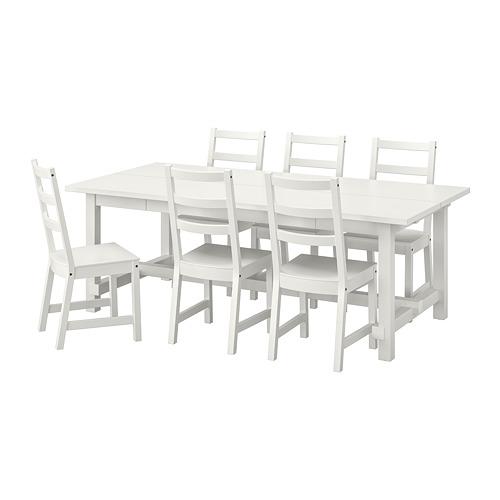NORDVIKEN/NORDVIKEN meja dan 6 kursi