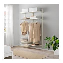 ALGOT - Rangka untuk dinding/rak/batang, putih
