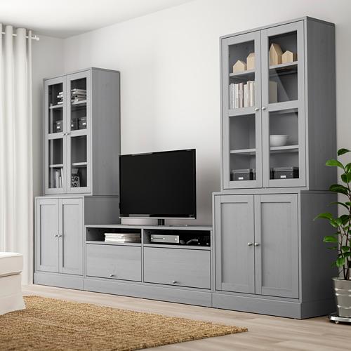 HAVSTA kombinasi penyimpanan TV/pintu kaca