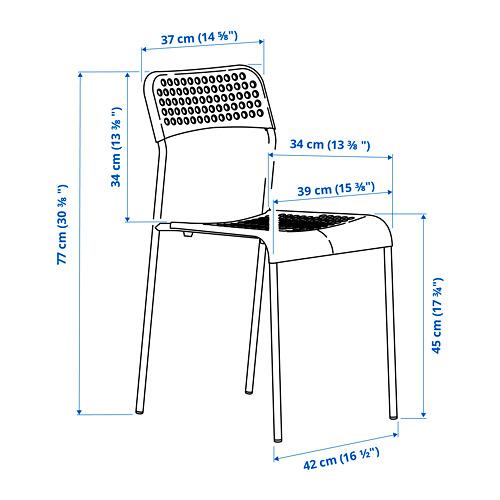 ADDE - kursi, merah/putih | IKEA Indonesia - PE798637_S4