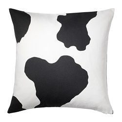RANVEIG - Cushion cover, white/black