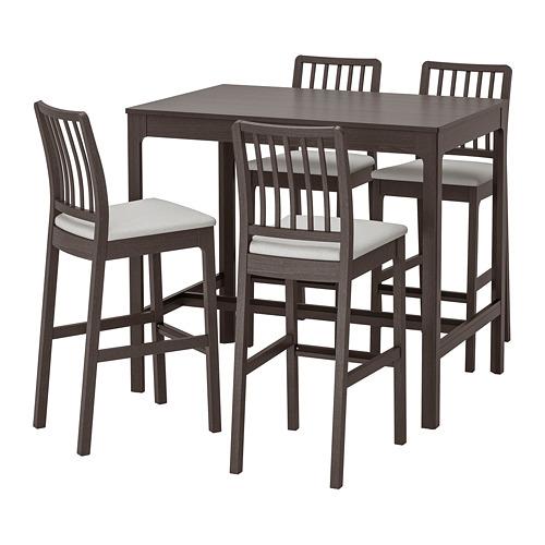 EKEDALEN/EKEDALEN - bar table and 4 bar stools, dark brown/Orrsta light grey | IKEA Indonesia - PE744732_S4
