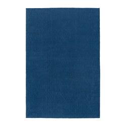 TYVELSE - Karpet, bulu tipis, biru tua