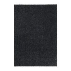 TYVELSE - Rug, low pile, dark grey
