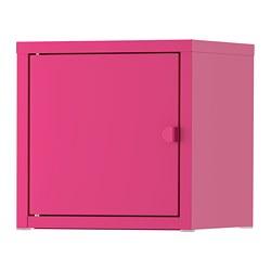 LIXHULT - Kabinet, logam/merah muda