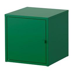 LIXHULT - Kabinet, logam/hijau tua