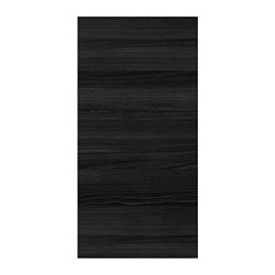 TINGSRYD - Pintu, efek kayu hitam