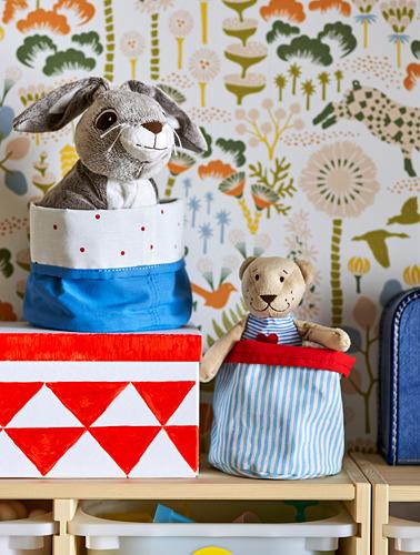 NÖJSAM - basket, set of 2, red/blue | IKEA Indonesia - PH161246_S4