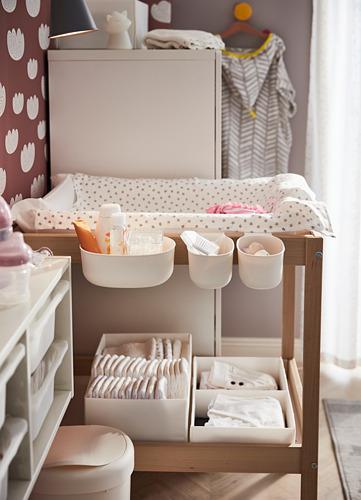 ÖNSKLIG - stor baskets changing tbl set of 4, white | IKEA Indonesia - PH157791_S4