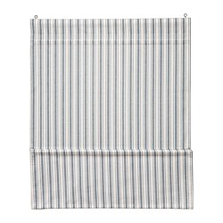 RINGBLOMMA - Roman blind, white/blue