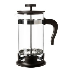 UPPHETTA - Coffee/tea maker, glass/stainless steel