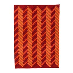 STOCKHOLM 2017 - Rug, flatwoven, handmade/zigzag pattern orange