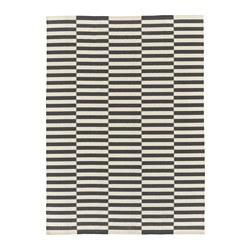 STOCKHOLM 2017 - Karpet, anyaman datar, buatan tangan/garis-garis abu-abu