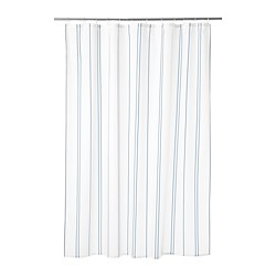 OTTSJÖN - Shower curtain, white/blue