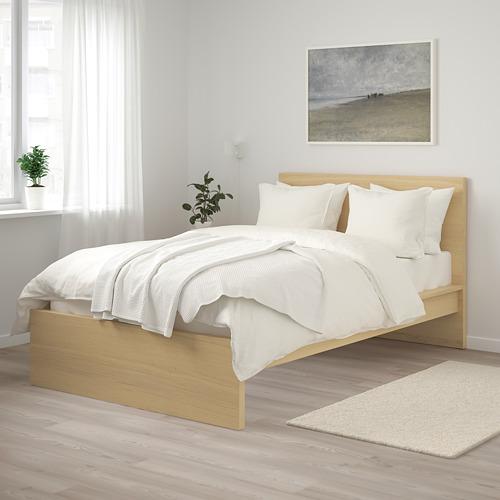 MALM - rangka tempat tidur, tinggi, veneer kayu oak diwarnai putih/Lönset, 120x200 cm | IKEA Indonesia - PE799378_S4