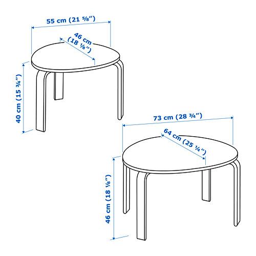 SVALSTA nest of tables, set of 2