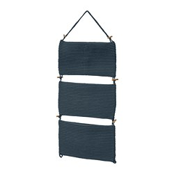 NORDRANA - Penyimpanan gantung, biru, 35x90 cm