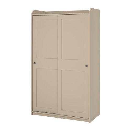 HAUGA wardrobe with sliding doors