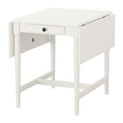 INGATORP - Meja dengan daun meja lipat, putih