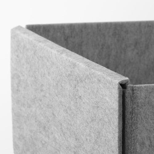 KOMPLEMENT - kotak, set isi 4, abu-abu muda, 40x54 cm | IKEA Indonesia - PE799554_S4