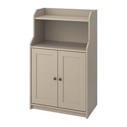 HAUGA - Kabinet 2 pintu, krem, 70x116 cm