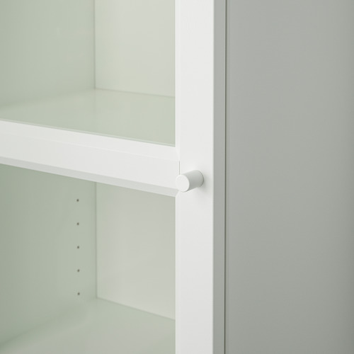 BILLY/OXBERG rak buku dengan pintu kaca