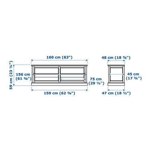 MALSJÖ TV bench with sliding doors
