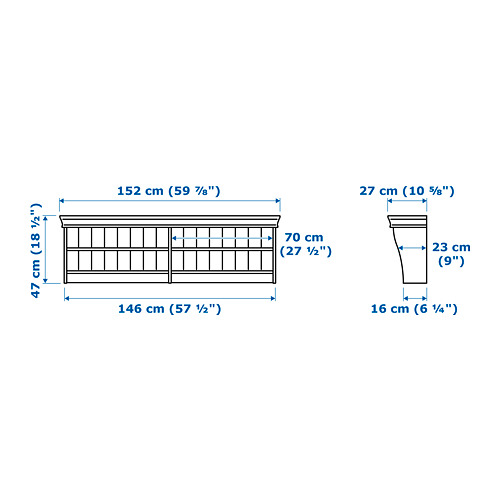 LIATORP rak sambung/dinding