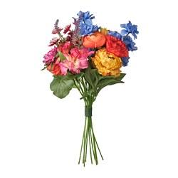 SMYCKA - SMYCKA, bouquet tiruan, dalam/luar ruang biru/merah/kuning/merah muda, 41 cm