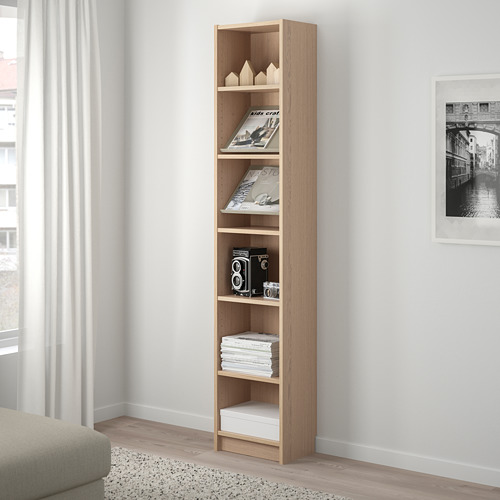 BILLY/BOTTNA rak buku dengan rak display