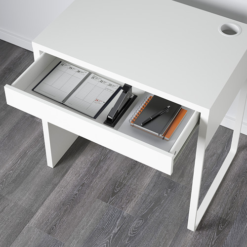 MICKE - meja, putih, 73x50 cm | IKEA Indonesia - PE565227_S4
