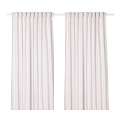 TIBAST - Curtains, 1 pair, beige