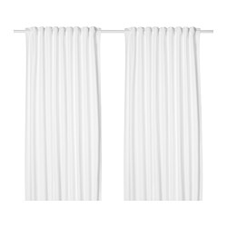 TIBAST - Curtains, 1 pair, white