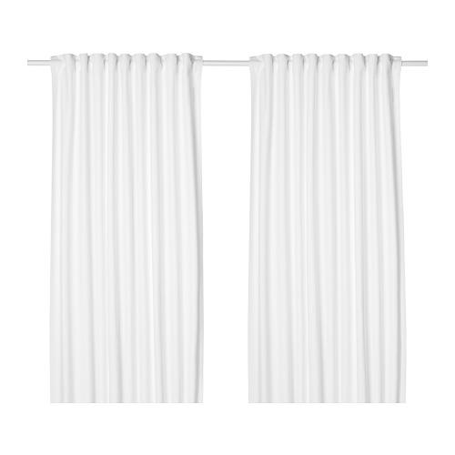TIBAST - curtains, 1 pair, white, 145x250 cm | IKEA Indonesia - PE658042_S4