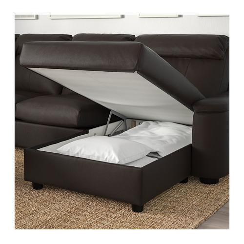 LIDHULT sofa tempat tidur sudut, 6 dudukan