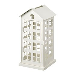 VINTERFEST - Block candle holder, house/white