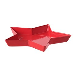 VINTERFEST - Candle dish, star/red