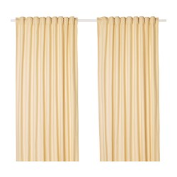TIBAST - Curtains, 1 pair, yellow