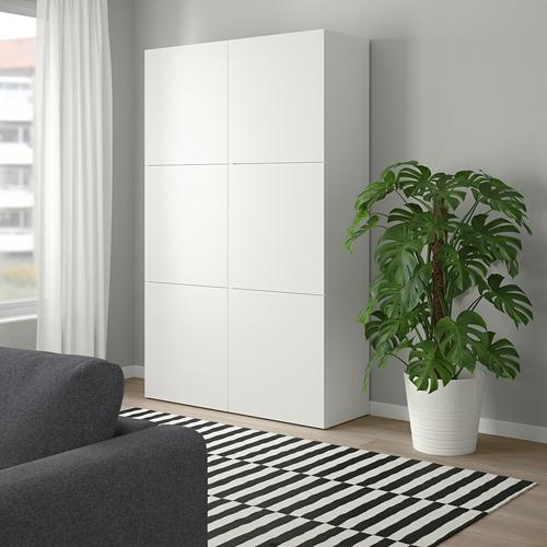 BESTÅ - kombinasi penyimpanan dengan pintu, putih/Lappviken putih, 120x42x193 cm | IKEA Indonesia - PE746508_S4